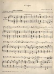 Elegie : Op. 29. Violoncello ; Harfe