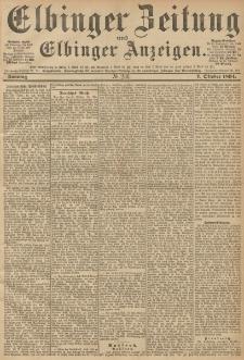 Elbinger Zeitung und Elbinger Anzeigen, Nr. 236 Sonntag 07. October 1894
