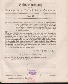 Gesetz-Sammlung für die Königlichen Preussischen Staaten, 15. März, 1851, nr. 3.