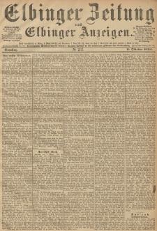 Elbinger Zeitung und Elbinger Anzeigen, Nr. 237 Dienstag 09. October 1894