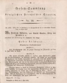 Gesetz-Sammlung für die Königlichen Preussischen Staaten, 3. Mai, 1851, nr. 10.