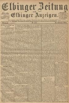 Elbinger Zeitung und Elbinger Anzeigen, Nr. 238 Mittwoch 10. October 1894