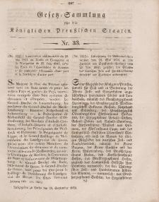 Gesetz-Sammlung für die Königlichen Preussischen Staaten, 29. September, 1851, nr. 33.