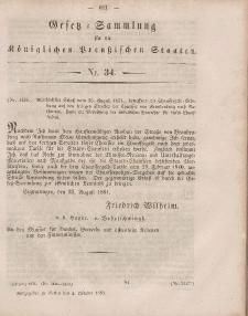 Gesetz-Sammlung für die Königlichen Preussischen Staaten, 4. Oktober, 1851, nr. 34.