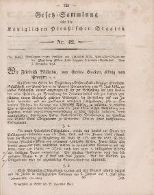 Gesetz-Sammlung für die Königlichen Preussischen Staaten, 27. Dezember, 1851, nr. 42.