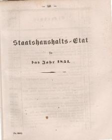 Gesetz-Sammlung für die Königlichen Preussischen Staaten, (Staatshaushalts-Etat füf das Jahr 1851)