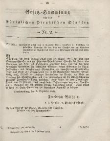 Gesetz-Sammlung für die Königlichen Preussischen Staaten, 2. Februar, 1852, nr. 2.
