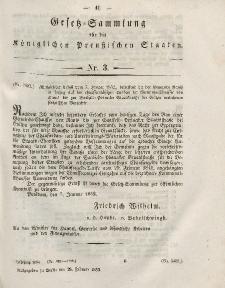 Gesetz-Sammlung für die Königlichen Preussischen Staaten, 28. Februar, 1852, nr. 3.