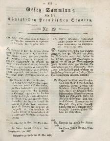 Gesetz-Sammlung für die Königlichen Preussischen Staaten, 15. Mai, 1852, nr. 12.