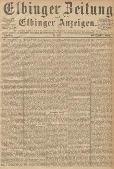 Elbinger Zeitung und Elbinger Anzeigen, Nr. 243 Dienstag 16. October 1894