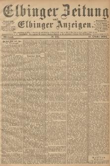 Elbinger Zeitung und Elbinger Anzeigen, Nr. 244 Mittwoch 17. October 1894