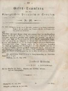 Gesetz-Sammlung für die Königlichen Preussischen Staaten, 26. Juni, 1852, nr. 26.