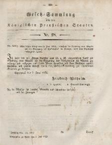 Gesetz-Sammlung für die Königlichen Preussischen Staaten, 3. Juli, 1852, nr. 28.