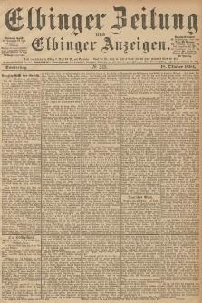 Elbinger Zeitung und Elbinger Anzeigen, Nr. 245 Donnerstag 18. October 1894