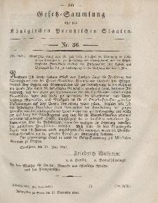 Gesetz-Sammlung für die Königlichen Preussischen Staaten, 13. September, 1852, nr. 36.