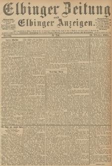 Elbinger Zeitung und Elbinger Anzeigen, Nr. 246 Freitag 19. October 1894