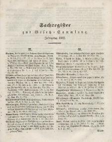 Gesetz-Sammlung für die Königlichen Preussischen Staaten, (Sachregister), 1852