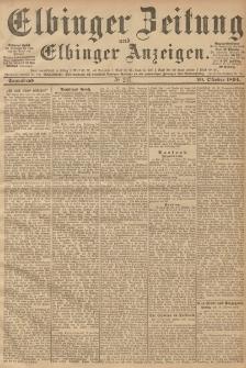 Elbinger Zeitung und Elbinger Anzeigen, Nr. 247 Sonnabend 20. October 1894