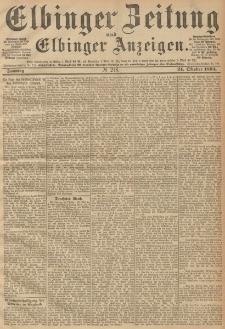 Elbinger Zeitung und Elbinger Anzeigen, Nr. 248 Sonntag 21. October 1894