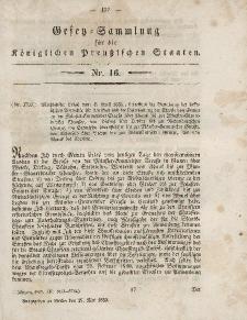 Gesetz-Sammlung für die Königlichen Preussischen Staaten, 27. Mai, 1853, nr. 16.