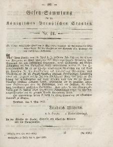 Gesetz-Sammlung für die Königlichen Preussischen Staaten, 8. Juni, 1853, nr. 21.