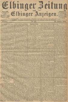Elbinger Zeitung und Elbinger Anzeigen, Nr. 249 Dienstag 23. October 1894