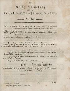 Gesetz-Sammlung für die Königlichen Preussischen Staaten, 27. Juni, 1853, nr. 26.