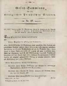 Gesetz-Sammlung für die Königlichen Preussischen Staaten, 28. Juni, 1853, nr. 27.