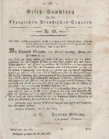 Gesetz-Sammlung für die Königlichen Preussischen Staaten, 26. Juli, 1853, nr. 35.