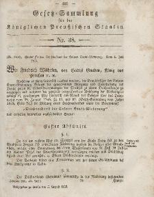 Gesetz-Sammlung für die Königlichen Preussischen Staaten, 5. August, 1853, nr. 38.