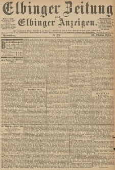 Elbinger Zeitung und Elbinger Anzeigen, Nr. 251 Donnerstag 25. October 1894
