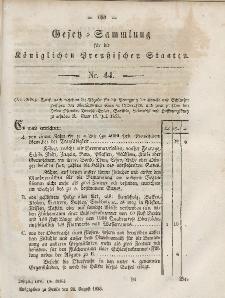 Gesetz-Sammlung für die Königlichen Preussischen Staaten, 24. August, 1853, nr. 44.