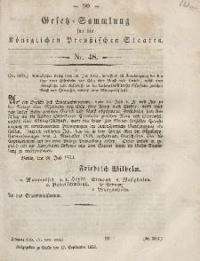Gesetz-Sammlung für die Königlichen Preussischen Staaten, 17. September, 1853, nr. 48.