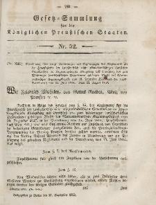 Gesetz-Sammlung für die Königlichen Preussischen Staaten, 27. September, 1853, nr. 52.