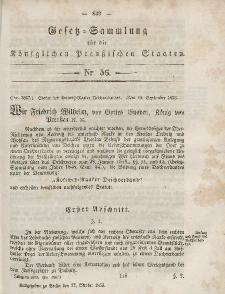 Gesetz-Sammlung für die Königlichen Preussischen Staaten, 27. Oktober, 1853, nr. 56.