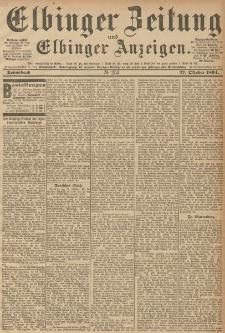 Elbinger Zeitung und Elbinger Anzeigen, Nr. 253 Sonnabend 27. October 1894