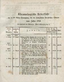 Gesetz-Sammlung für die Königlichen Preussischen Staaten (Chronologische Uebersicht), 1853