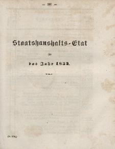 Gesetz-Sammlung für die Königlichen Preussischen Staaten, (Staatshaushalts-Etat füf das Jahr 1853)