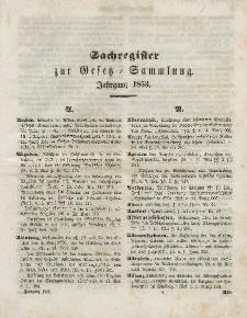 Gesetz-Sammlung für die Königlichen Preussischen Staaten, (Sachregister), 1853