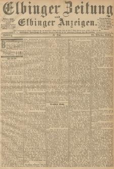 Elbinger Zeitung und Elbinger Anzeigen, Nr. 254 Sonntag 28. October 1894