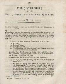 Gesetz-Sammlung für die Königlichen Preussischen Staaten, 24. Mai, 1854, nr. 18.