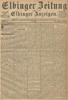 Elbinger Zeitung und Elbinger Anzeigen, Nr. 256 Mittwoch 31. October 1894