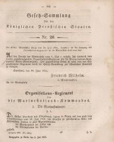 Gesetz-Sammlung für die Königlichen Preussischen Staaten, 8. Juli, 1854, nr. 26.