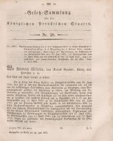 Gesetz-Sammlung für die Königlichen Preussischen Staaten, 20. Juli, 1854, nr. 28.