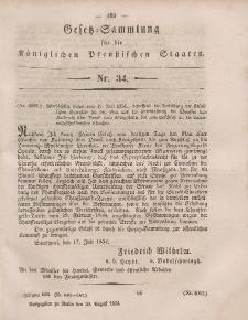 Gesetz-Sammlung für die Königlichen Preussischen Staaten, 30. August, 1854, nr. 34.