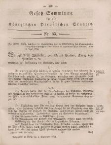 Gesetz-Sammlung für die Königlichen Preussischen Staaten, 4. September, 1854, nr. 35.
