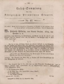 Gesetz-Sammlung für die Königlichen Preussischen Staaten, 12. September, 1854, nr. 37.