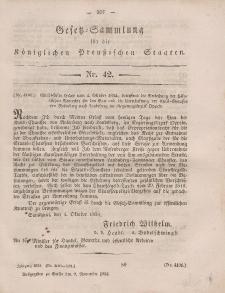 Gesetz-Sammlung für die Königlichen Preussischen Staaten, 9. November, 1854, nr. 42.