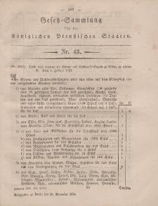 Gesetz-Sammlung für die Königlichen Preussischen Staaten, 18. November, 1854, nr. 43.