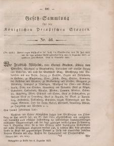 Gesetz-Sammlung für die Königlichen Preussischen Staaten, 4. Dezember, 1854, nr. 46.